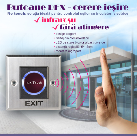 Cbuton 7 - buton cerere iesire REX infrarosu, no touch