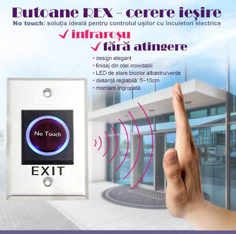 C button 6 - buton cerere iesire (REX) infrarosu, no touch